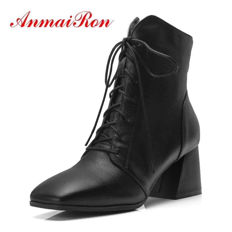 Anmairon botas 2018 mulher zapatos de mujer womens botas das mulheres sapatos bella hadid tornozelo botas tamanho 34-42 zyl1351