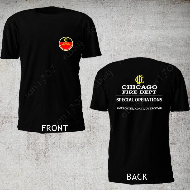 2019 mode Chicago Fire Dept. Spezielle Operationen Feuerwehrmann Engineering-departement Feuer t-shirt T shirt
