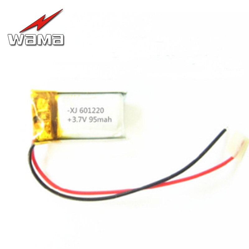 8pcs 601220 95mAh 3.7V Rechargeable Li-Polymer Battery for Bluetooth Devices Electronic Products