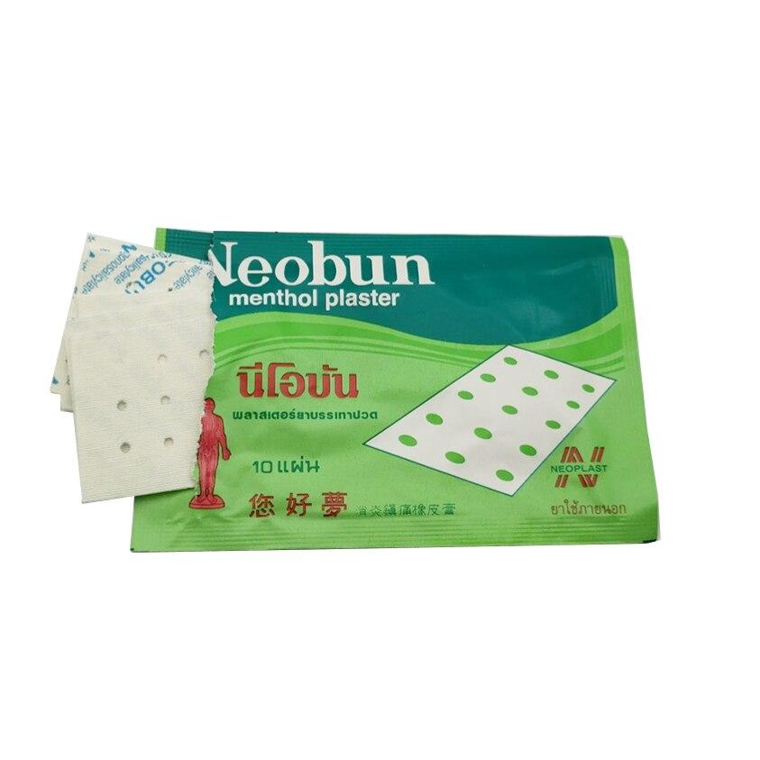 20 pces tailândia neobun anti-inflamatório analgésico paster tratamento dores musculares, remendo do alívio da dor do reumatismo