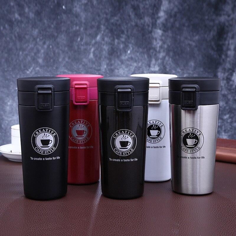 Termo taza de café termo Taza termo café termo tazas termo 304 botella termo termopar de acero inoxidable