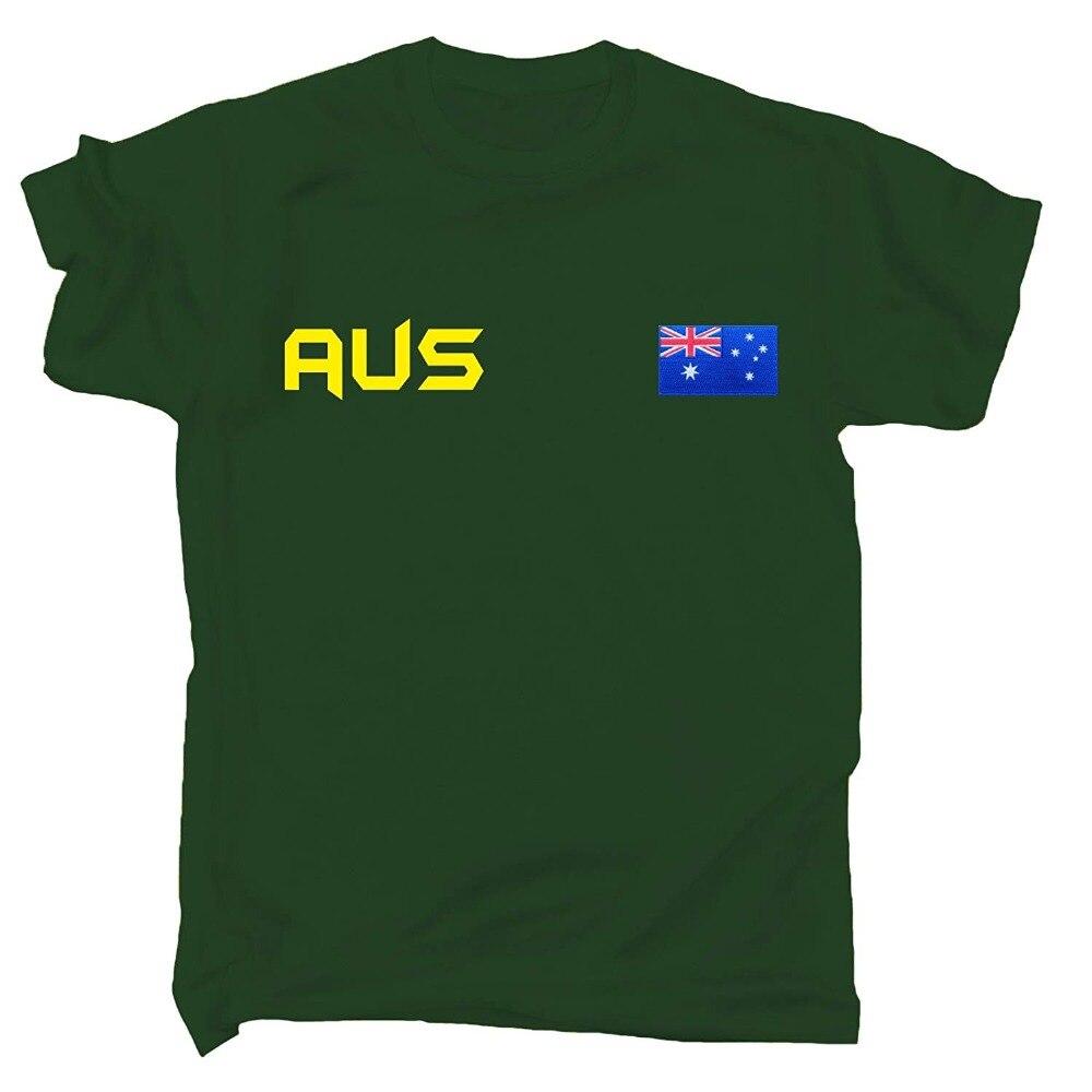 Australie Supporter T-Shirt Aussie Tee drapeau australien T Shirt jeux footballeur Legend Soccers 2019 dernier o-cou hommes t-shirts