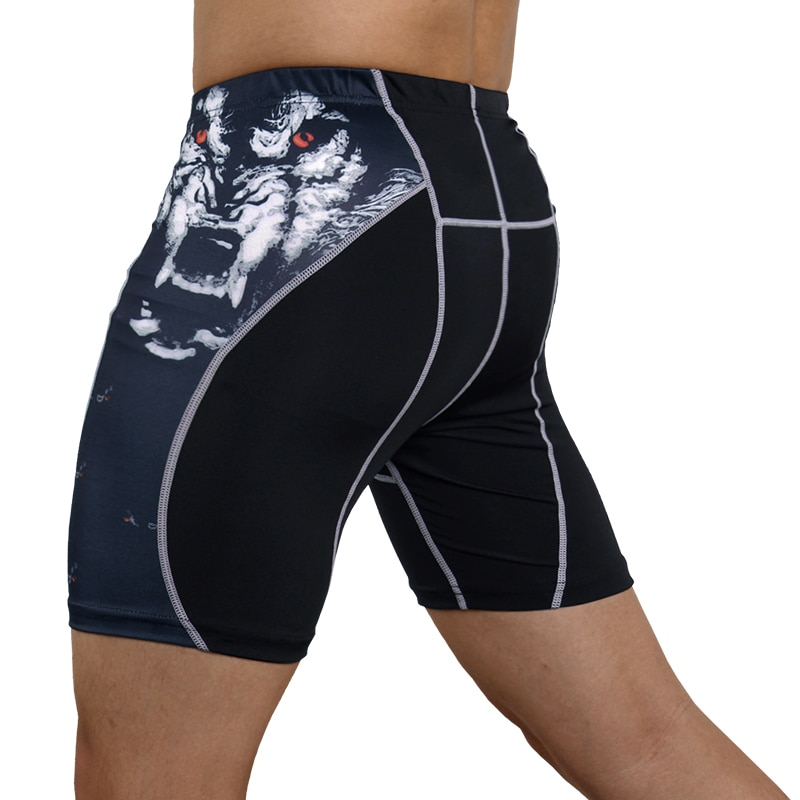 Mens Gym Wear Fitness Training Shorts Men Dry Fit Running Compression Tight Sport Short Pants Male Workout Shorts