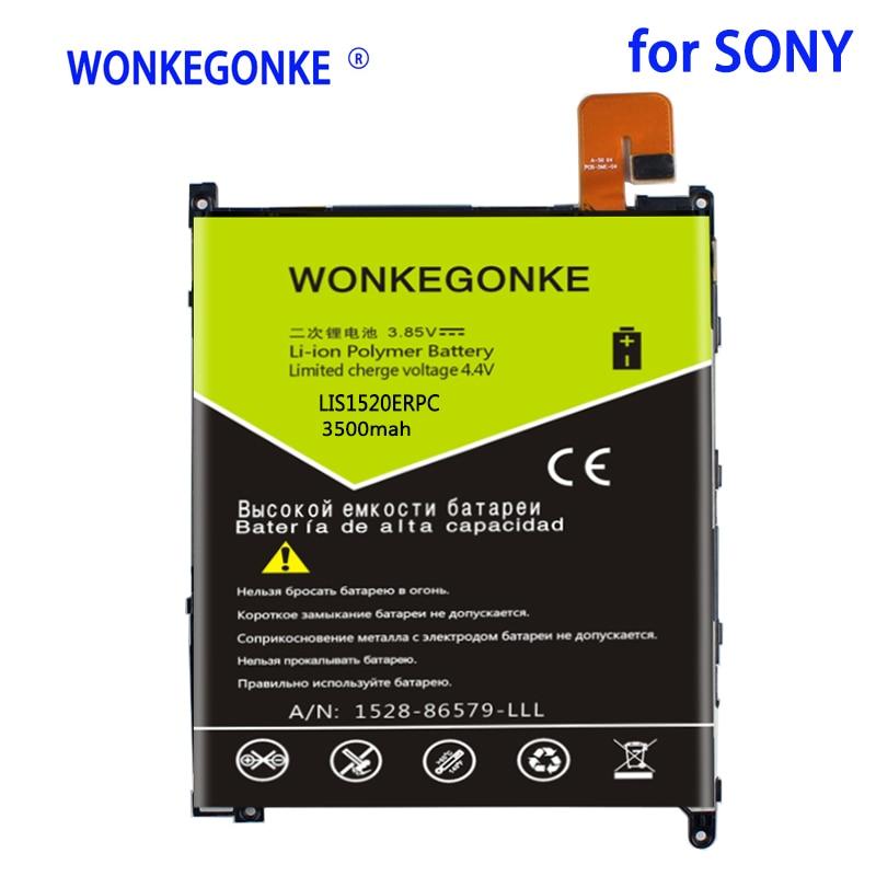 WONKEGONKE 3500mah LIS1520ERPC batería para Sony Xperia Z Ultra XL39 XL39H C6802 C6806 C6833 baterías BateriaBateria