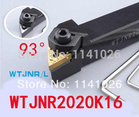 WTJNR2020K16 20*20*125mm CNC Draaien Tool, metalen Draaibank Snijgereedschap, Draaibank Machine Tools, externe Draaigereedschap W-Type WTJNR/L