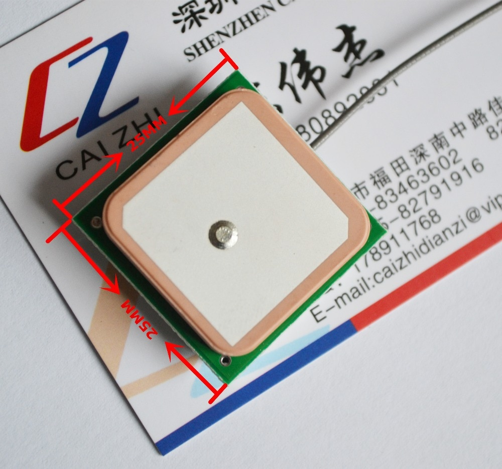 Бесплатная доставка, встроенная GPS антенна, GPS антенна 25 мм * 25 мм, активная антенна, подходит для SIM908 SIM5320E
