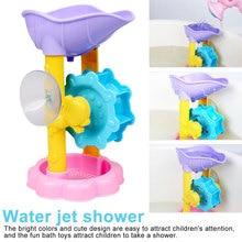 Mignon bébé jouets de bain douche enfants douche roue à eau costume bébé jouets de bain baignoire mousse plage piscine