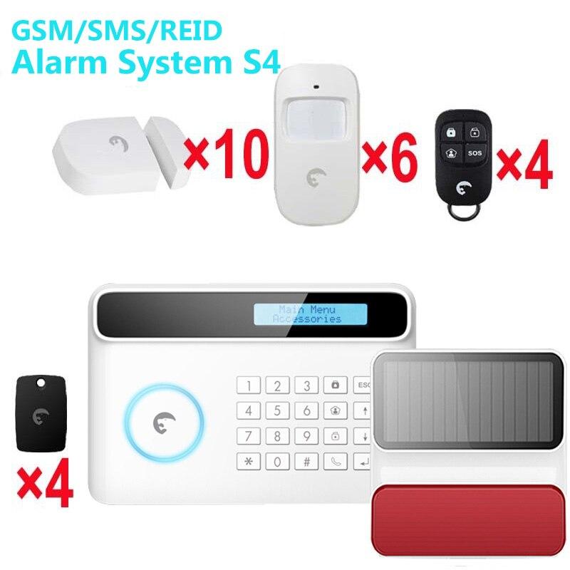 Sistema de alarma de flash Solar, gsm SMS RFID tres funciones alarma de lucha contra intrusos