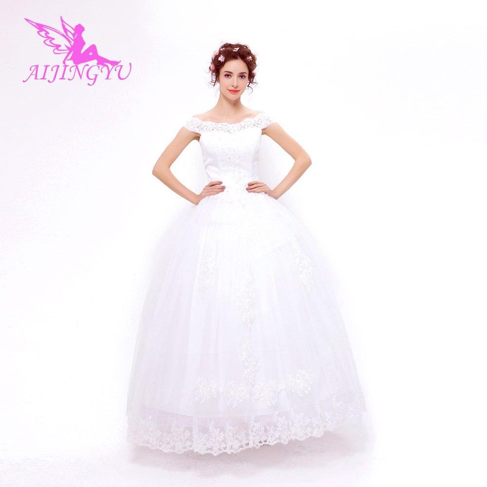 AIJINGYU 2018 new free shipping china bridal gowns cheap simple wedding dress sexy women girl wedding dresses gown TS149
