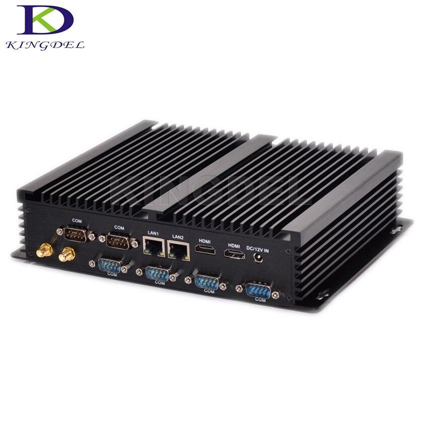 Kingdel جديد كمبيوتر صناعي صغير كور i7 4500U i3 4010U وعرة ITX حالة جزءا لا يتجزأ من 2 * الزنك 2 * HDMI 6 * COM HTPC بدون مروحة كمبيوتر مكتبي