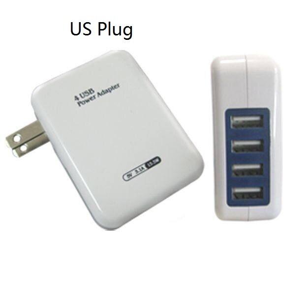 Portátil 5V 3.1A 4 puertos de CA de la UE Plu/US Plug adaptador de cargador USB HUB para Samsung iPhone Huawei Sony LG P2