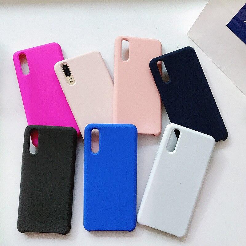 Funda de silicona líquida P20 Candy colors para Huawei P20 Pro, funda trasera fina de lujo a prueba de golpes con recubrimiento mate y tacto suave para Huawei P20
