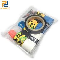 POWERTI Badminton 4pcs Dry Overgrip+2pcs Racket Ring +1pcs Grip Tape+1pcs Badminton Grommets Set Racket Accessory