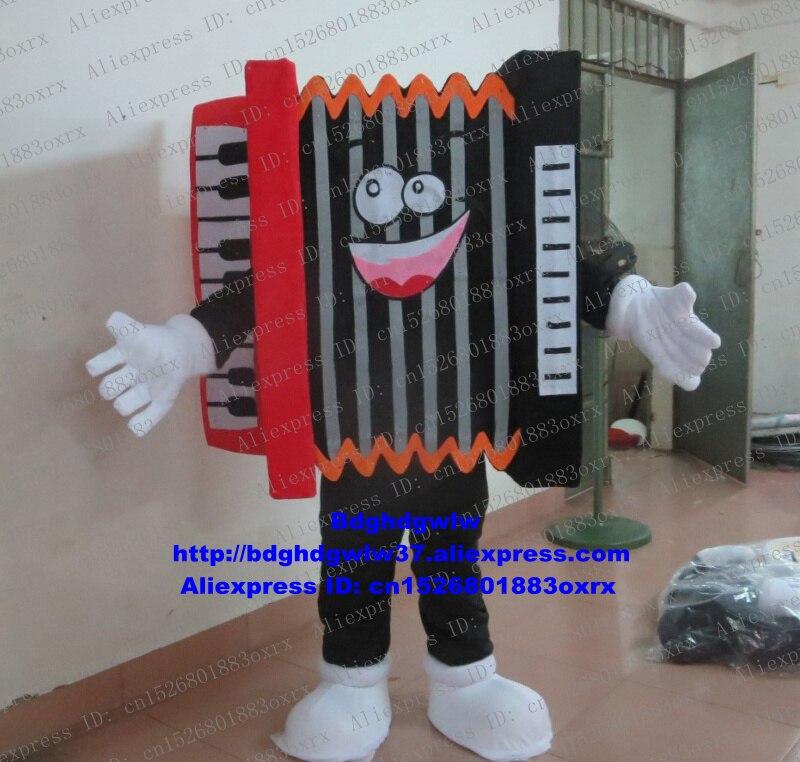 Piano Accordion bandoneón Accoridan traje de la mascota de personaje de dibujos para adultos traje de grandes eventos Grand Bodog Casino zx1771