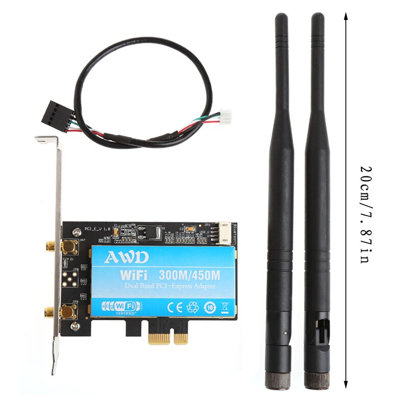 Alta calidad de doble banda 2 en 1 inalámbrico Bluetooth V4.0 300Mbps medio MINI PCI-E adaptador de tarjeta de red BCM943228HMB para ordenador portátil