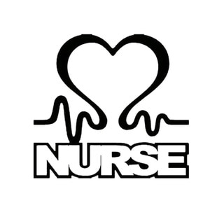Nurses With Heart Bumper Stickers Apply Vinyl Wrap To Car Tattoos With Personalized Pattern Accessories