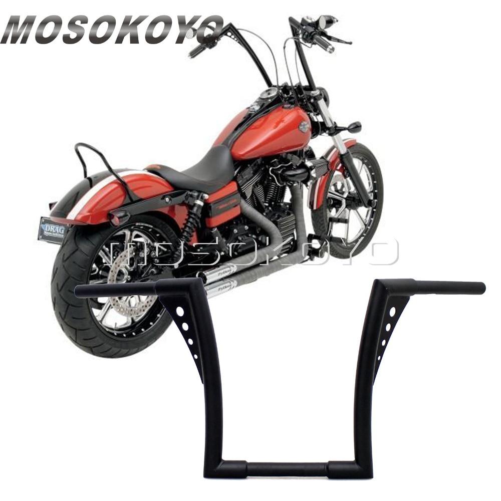 "Мотоцикл черный APE вешалка руль 12 ""Rise Drag Fat Bar 30,5"" широкий для Harley Softail FLST FXST Sportster XL Touring"