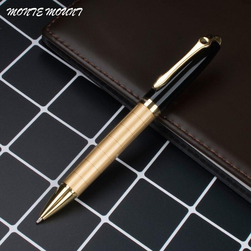 Золотая металлическая шариковая ручка 0,7 мм Роскошная брендовая Шариковая ручка для бизнеса, подарок для письма, школьные офисные канцеляр...