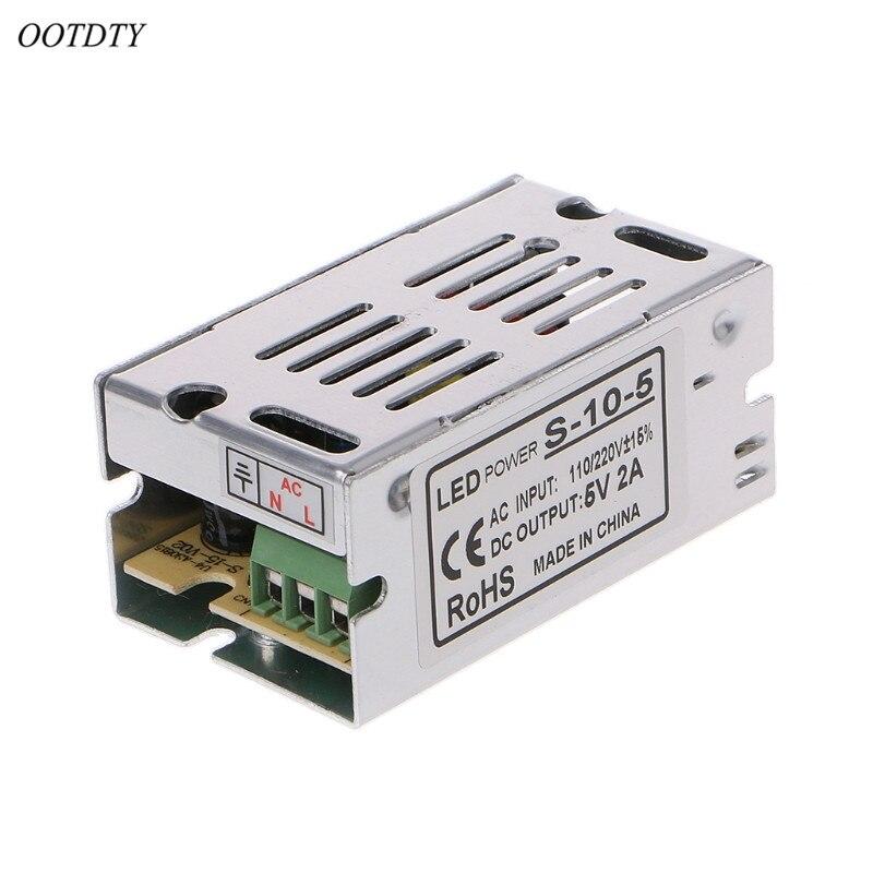 Entrada AC110-220V 50/60Hz Salida DC 5V 2A 6A controlador del interruptor de la fuente de alimentación transformadores para tira de luz LED de alto rendimiento