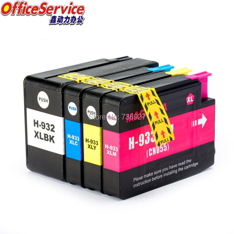 Cartucho de tinta Compatible para HP 932 933 HP932 HP933XL traje para Officejet 6100, 6600, 6700, 7110, 7610, 7612, 7510, 7512 impresora