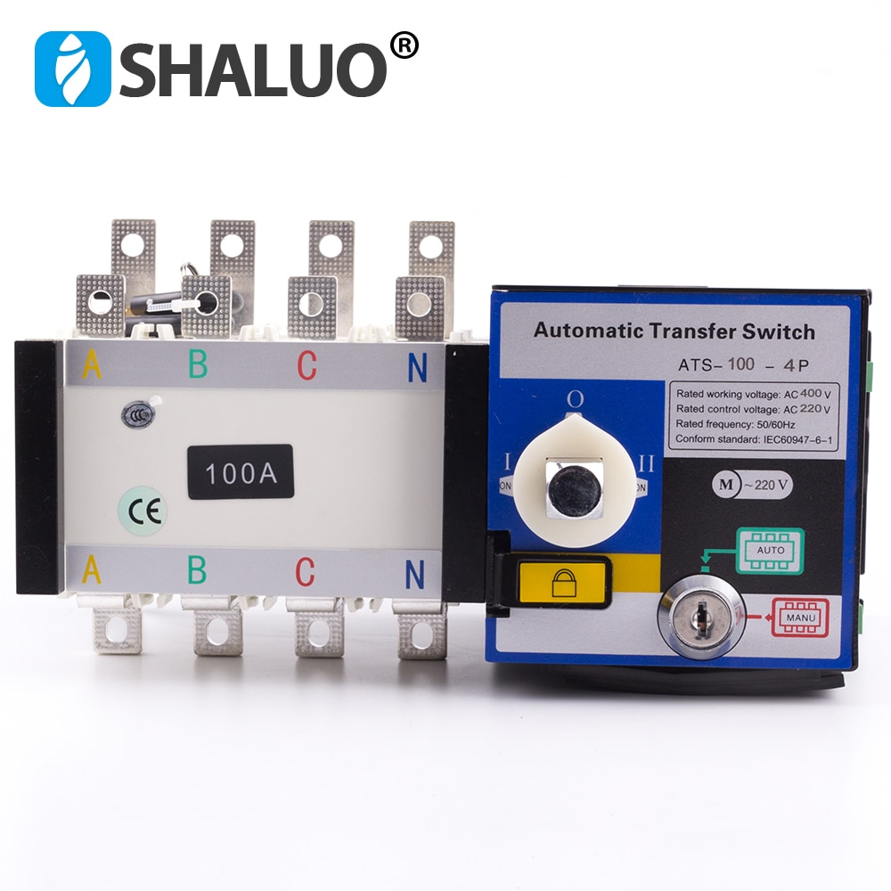 4 p 100a 400 v universal interruptor de transferência automática ats duplo interruptor de transferência de energia ac gerador diesel parte monofásica trifásica