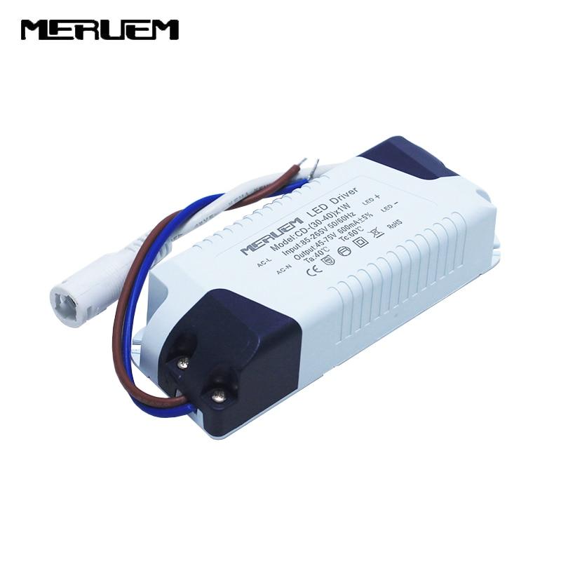 36W-40W LED panel lamp Power Supply Lighting Transformer AC85-265V Output:600mA,DC45-75V External drive