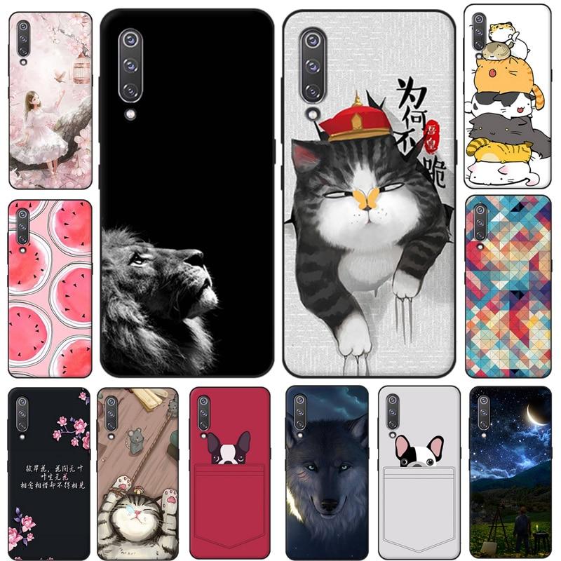 "5.97"" For Xiaomi Mi 9 SE Case Cat Dog Animal Cartoon Soft TPU Silicone Cover For Xiaomi Mi9 SE Mi 9 SE Phone Back Case Mi9SE"