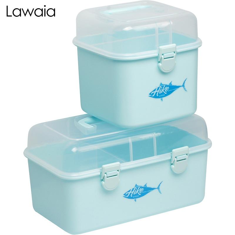 Lawaia Fishing Tackle Box Double-layer Fishing Gears Storage Box Multi-function Road Asia Fishing Accessories Gadget Storage Box