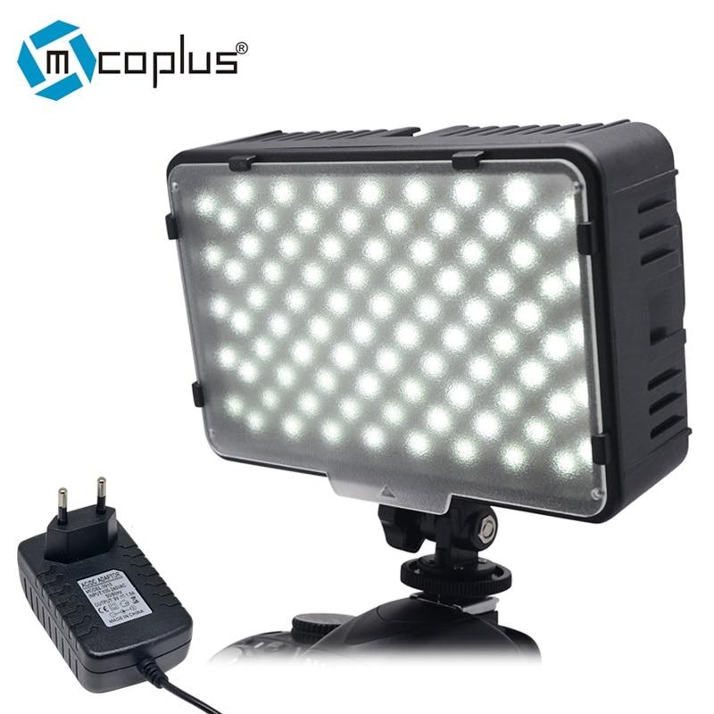 Светодиодная видеокамера Mcoplus 168A с зарядным устройством для Canon Nikon Sony Pentax Panasonic Samsung Olympus и DV Camera Camcorder