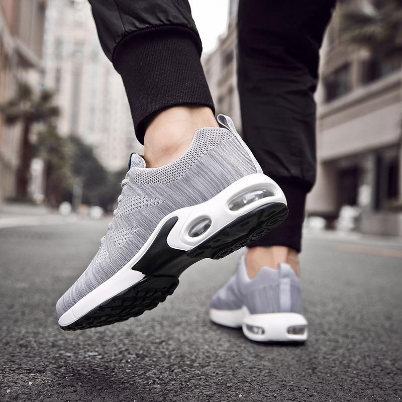 Zapatos casuales para hombre de punto a la moda estilo callejero, zapatillas de deporte clásicas al aire libre, zapatillas de deporte para hombre