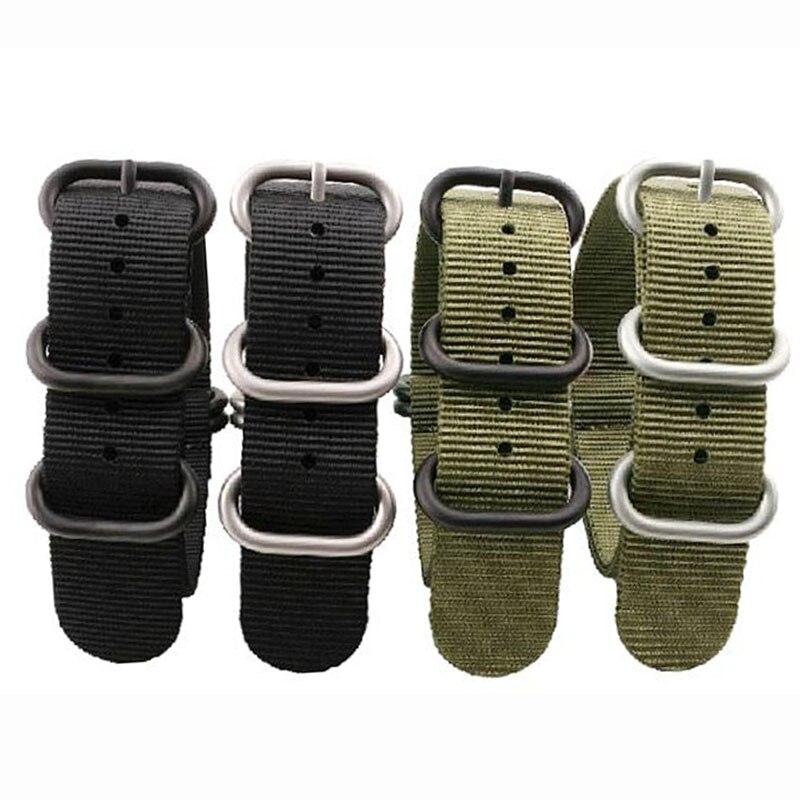 Nuevas correas de alta calidad para NATO 18mm 19mm 20mm 21mm 22mm 23mm 24mm 26mm negro verde gris deportes ocio nailon tejido correa de reloj