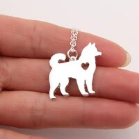 dainty husky necklace siberian alaskan malamute akita dog necklace memorial gift pet necklaces pendants women animal