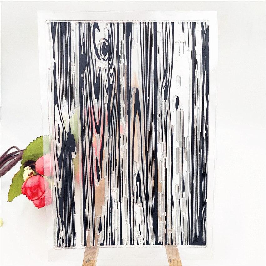 Sellos transparentes de goma JC para álbum de recortes hoja de grano de madera sellos de silicona arte plantilla álbum sellos papel decoración para hacer tarjetas sello