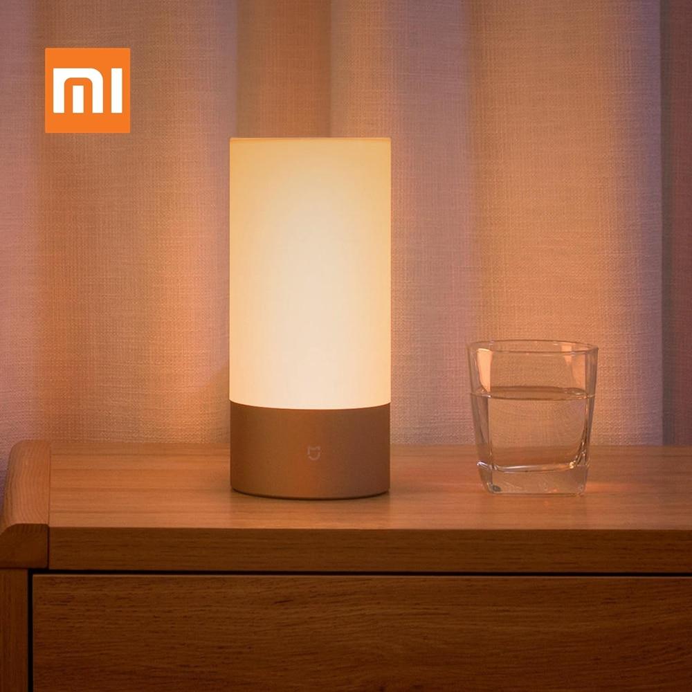 مصباح ذكي من شاومي Mijia Mi مصباح بجانب السرير مصباح بلوتوث واي فاي LED مصباح ذكي داخلي للإضاءة الليلية تطبيق ذكي يعمل باللمس
