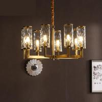Modern living room Led chandeliers bedroom restaurant American style luxury copper Antique Style Chandeliers lighting fixtures