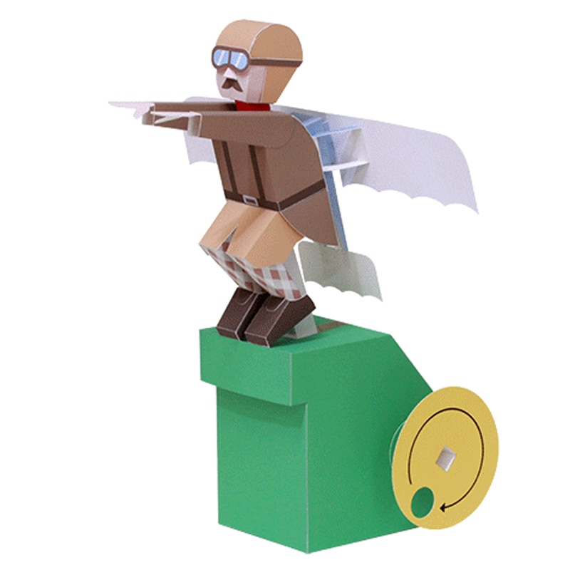 DIY papel decorativo de desecho DHaruki Nakamura juguetes de papel 3D Robot volador Kirigami Pliage Decouvrez Adorables juguetes de papel de Origami