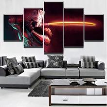 Модульный игровой плакат, современная живопись на холсте, 5 шт., 2 DotA Juggernaut, Настенная картина, Декор для дома, для мальчиков, комната, художест...