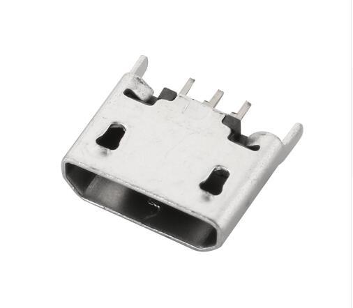 10 pcs Boca Plana MICRO conector USB 5pin 180 graus Vertical Para O telefone Móvel Mini jack 5 p plugue Direto -nos conectores