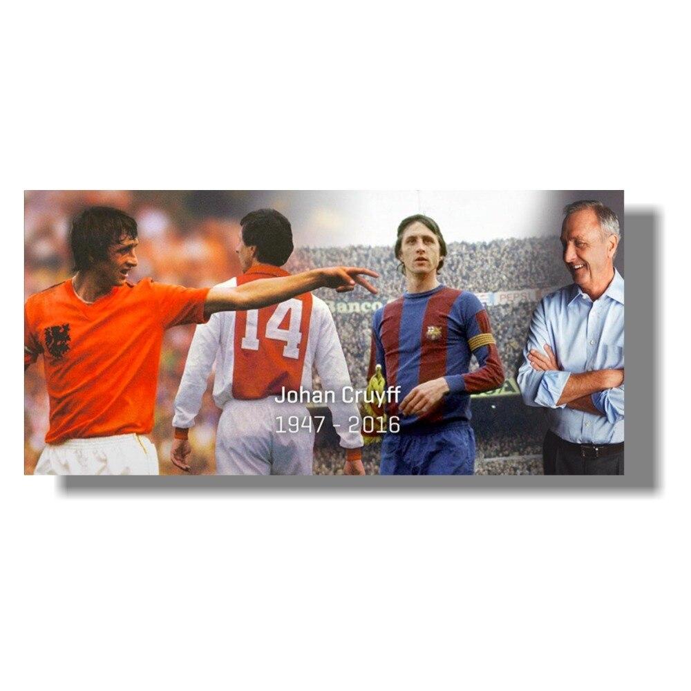 Johan Cruyff Football Legend Art Silk Poster Pictures for livingroom bedroom decoration Posters