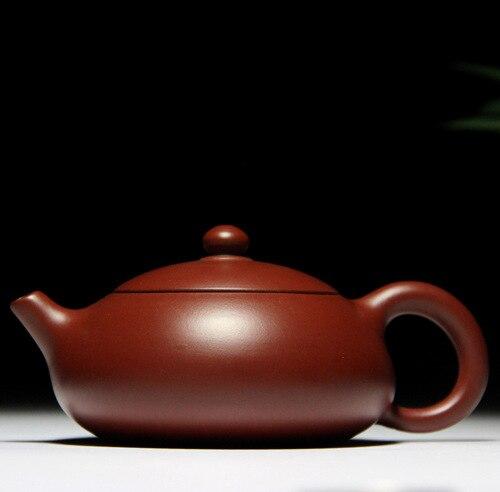 وعاء شي مسطح سعة حوالي 160cc ، طين Zhu Dahongpao Yixing ، إبريق شاي أصلي خاص