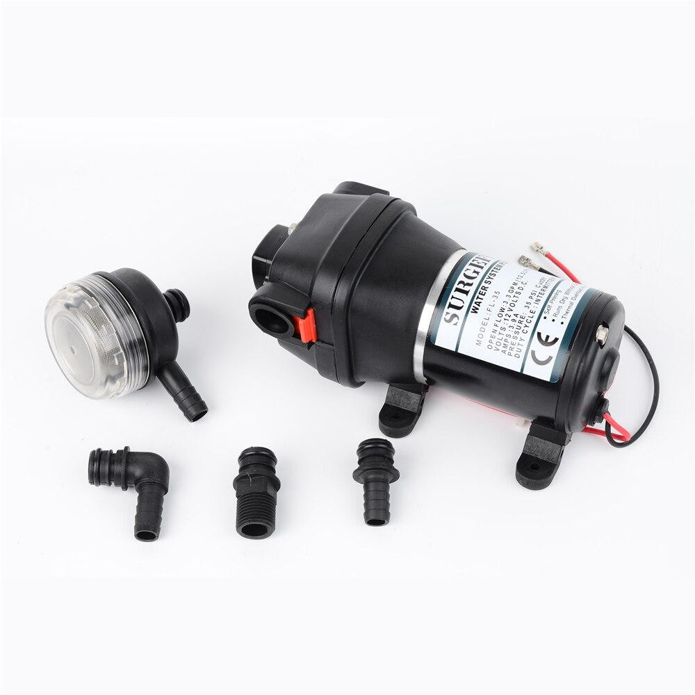 Lift 10m 17PSI 12V DC Low Pressure Electric Diaphragm Pump Irrigation Motorhome/RV/Touring Car Water Supply FL-30 FL-31