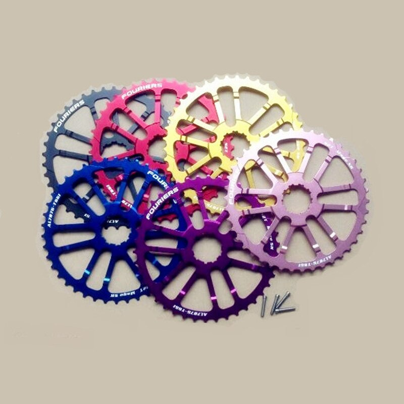 FOURIERS mtb 40T/42T Single Speed flywheel extended slice Mountain Bike Bicycle Flywheel Cassette Tool Bicicleta Parts cassetta