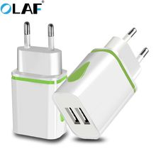 Olaf Dual USB Charger 5V2A LED EU Adapter wall charger charging for Apple iPhone Samsung Xiaomi Huaw