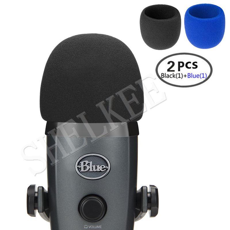 Micrófono de espuma SHELKEE, parabrisas para micrófonos condensador Yeti Nano,Yeti Nano-como filtro pop para micrófonos