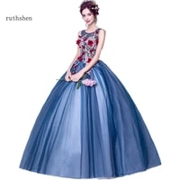 ruthshen luxury evening dresses 2020 long new navy blue embroidery flowers illusion special occasion dress prom gowns