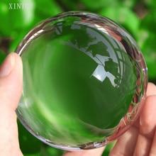 Clear Lens Ball Photography Prop Crystal Ball 80mm K9 Crystal Glass Decor Globe Meditation Healing Magic Feng shui Sphere