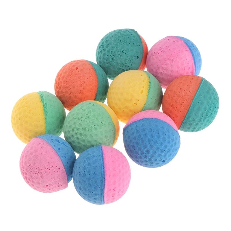 10 шт., игрушки для домашних животных, латексные шары, красочные жевательные игрушки для собак, кошек, щенков, котят, мягкие эластичные