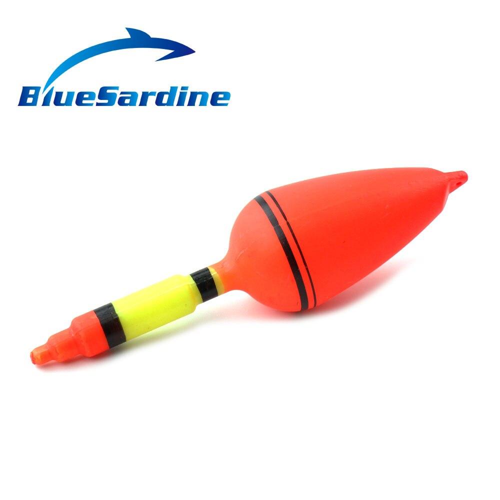 BlueSardine 10 pièces Flotteur De Pêche En Plastique Poisson Flotteur Flotteur Flottant Lumière Flotteurs