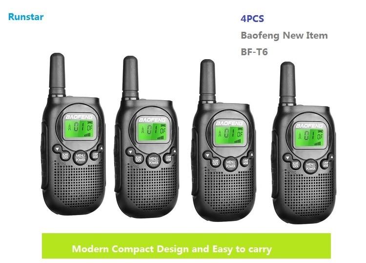 New hot item 4pcs BF-T6 baofeng two way radio portable radio walkie talkie CB Radio station Kids Handheld Communicator ham radio kobramax radio