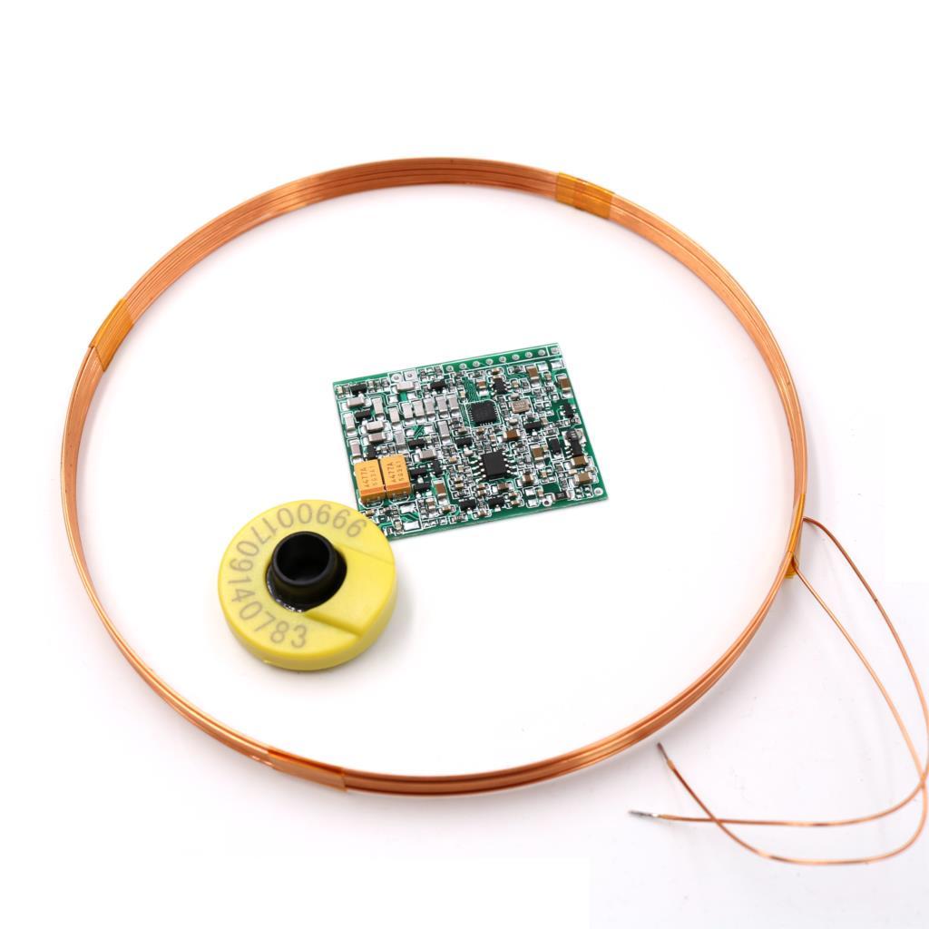 134.2kHz AGV FDXB طويلة المدى ISO11784/85 FDX-B EM معرف علامات مخصصة للحيوانات غطاء أذن قارئ molde UART